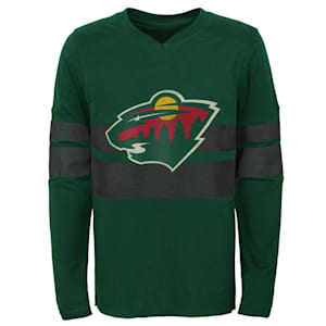 Adidas Minnesota Wild Featured Classic Long Sleeve Tee - Youth