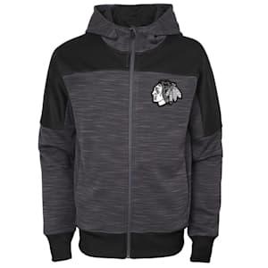 Outerstuff Chicago Blackhawks Sleek Essentials Full Zip - Youth