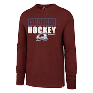 47 Brand Colorado Avalanche Blockout Long Sleeve Tee - Adult