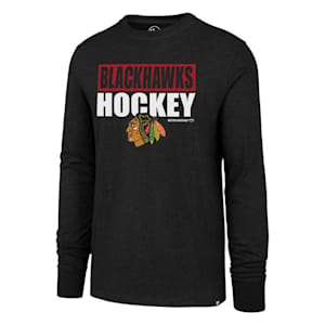47 Brand Chicago Blackhawks Blockout Long Sleeve Tee - Adult