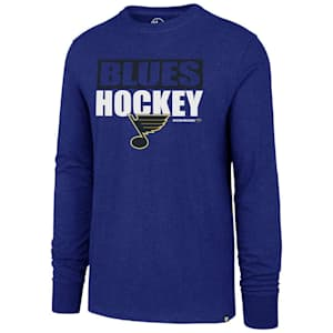 47 Brand St. Louis Blues Blockout Long Sleeve Tee - Adult