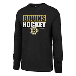 47 Brand Boston Bruins Blockout Long Sleeve Tee - Adult