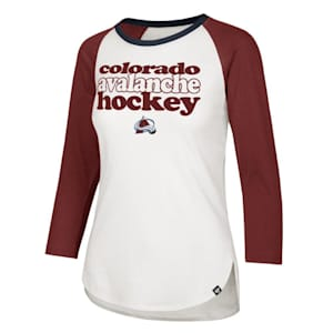 47 Brand Hollow Stack Raglan Tee Colorado Avalanche - Womens