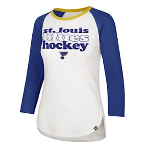 47 Brand Hollow Stack Raglan Tee St. Louis Blues - Womens
