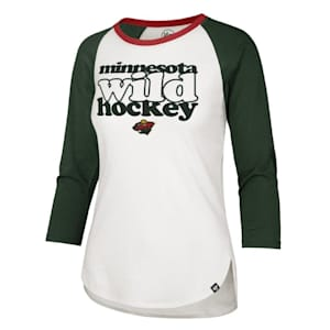 47 Brand Hollow Stack Raglan Tee Minnesota Wild - Womens