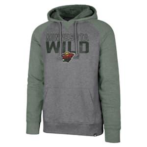 47 Brand Minnesota Wild Match Raglan Hoody - Adult