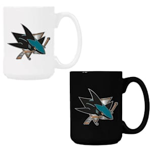 San Jose Sharks 15 oz Ceramic Mug Gift Set