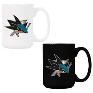 San Jose Sharks 15 oz Ceramic Mug Gift Set