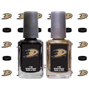 NHL Nail Polish 2 Pack With Decals - Anaheim Ducks
