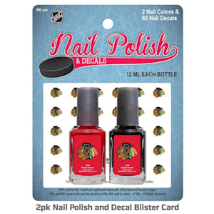 NHL Nail Polish 2 Pack With Decals - Chicago Blackhawks