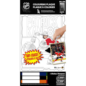 Frameworth Patrick Kane NHL Coloring Plaque