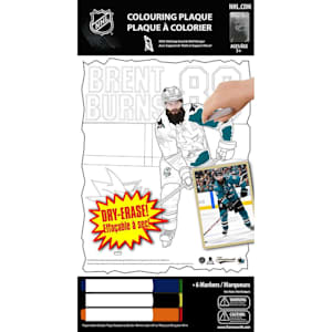 Frameworth Brent Burns NHL Coloring Plaque