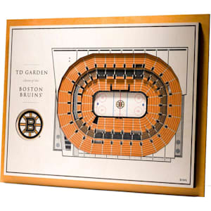 YouTheFan Boston Bruins 5Layer Stadium 3D Wall Art