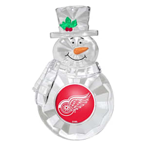 Snowman Ornament Detroit Red Wings
