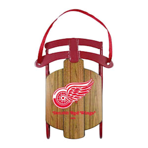 Metal Sled Ornament Detroit Red Wings