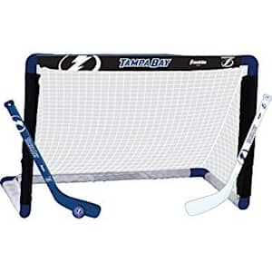Franklin NHL Team Mini Hockey Goal Set - Tampa Bay Lightning