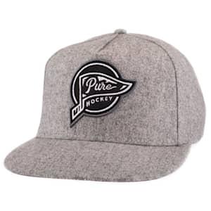 Pure Hockey Banner Flat Brim Hat - Adult