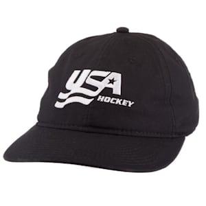 USA Hockey Black Adjustable Dad Cap - Adult