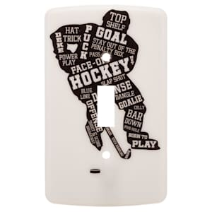 Painted Pastimes Player Light Switch Cover - Glow in the Dark