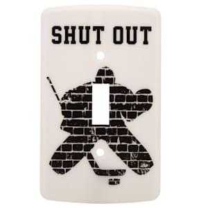 Painted Pastimes Goalie Light Switch Cover - Glow in the Dark