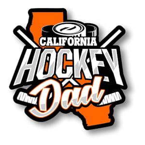 Hockey Dad State Sticker
