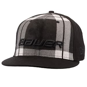 Bauer New Era 9Fifty Plaid Adjustable Cap - Black/Grey - Adult