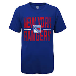 Outerstuff Hustle Ultra Tee - NY Rangers - Youth