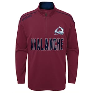 Adidas Attacking Zone 1/4 Zip Performance Top - Colorado Avalanche - Youth