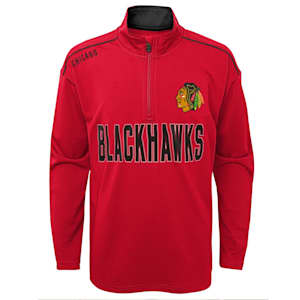 Adidas Attacking Zone 1/4 Zip Performance Top - Chicago Blackhawks - Youth