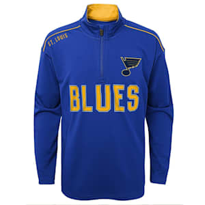 Adidas Attacking Zone 1/4 Zip Performance Top - St. Louis Bluis - Youth