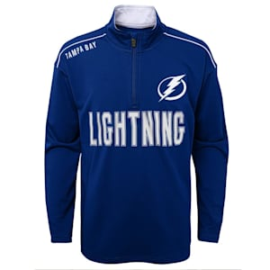 Outerstuff Attacking Zone 1/4 Zip Performance Top - Tampa Bay Lightning - Youth