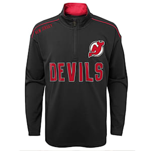 Adidas Attacking Zone 1/4 Zip Performance Top - New Jersey Devils - Youth
