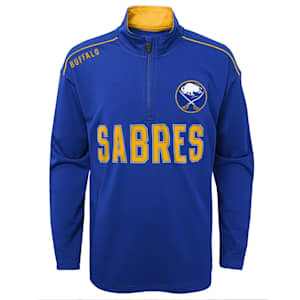 Adidas Attacking Zone 1/4 Zip Performance Top - Buffalo Sabres - Youth