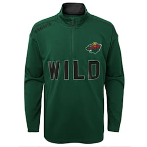 Adidas Attacking Zone 1/4 Zip Performance Top - Minnesota Wild - Youth