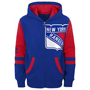 Outerstuff Faceoff FZ Fleece Hoodie - New York Rangers - Youth