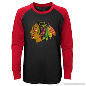 Adidas Undisputed Long Sleeve Crew Tee - Chicago Blackhawks - Youth
