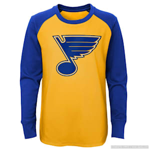 Adidas Undisputed Long Sleeve Crew Tee - St. Louis Blues - Youth