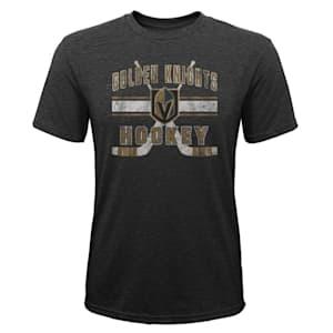 Adidas Super Stripe Short Sleeve Tri Blend Tee Shirt – Vegas Golden Knights - Youth