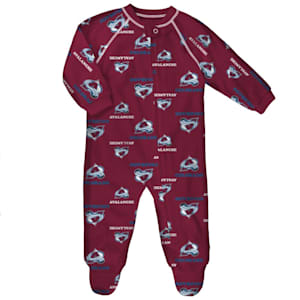 Outerstuff Raglan Zip Up Coverall - Colorado Avalanche - Infant