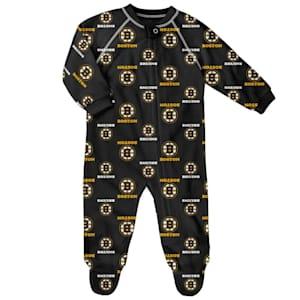 Outerstuff Raglan Zip Up Coverall - Boston Bruins - Newborn