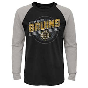 Adidas Over Time Long Sleeve Raglan Tee Shirt - Boston Bruins - Youth