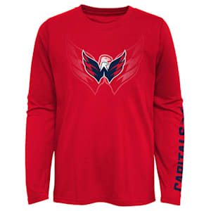 Adidas Stop The Clock Long Sleeve Tee Shirt - Washington Capitals - Youth