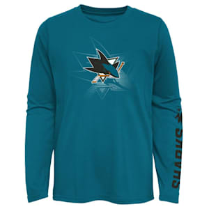Adidas Stop The Clock Long Sleeve Tee Shirt -  San Jose Sharks - Youth