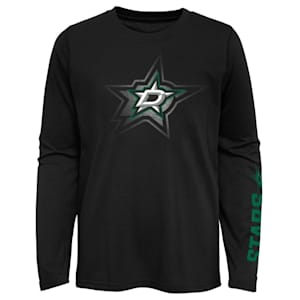 Adidas Stop The Clock Long Sleeve Tee Shirt - Dallas Stars - Youth