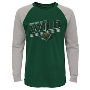 Adidas Over Time Long Sleeve Raglan Tee Shirt - Minnesota Wild - Youth