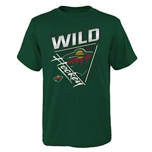 Adidas Angled Attitude Short Sleeve Tee Shirt - Minnesota Wild - Youth