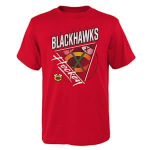 Adidas Angled Attitude Short Sleeve Tee Shirt - Chicago Blackhawks - Youth