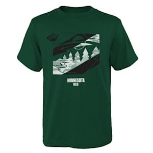 Adidas Crossfit Tech Short Sleeve Tee Shirt - Minnesota Wild - Youth