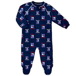 Outerstuff Raglan Zip Up Coverall - New York Rangers - Newborn