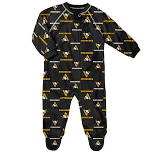 Adidas Raglan Zip Up Coverall - Pittsburgh Penguins - Infant